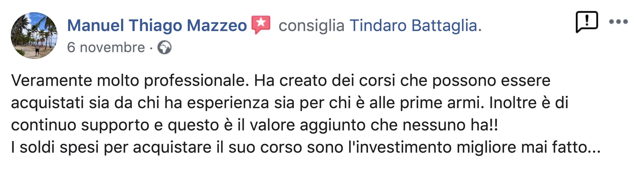 roibook m opinioni Manuel Thiago Mazzeo
